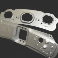 A set of metal hinges created by Roston Castings
